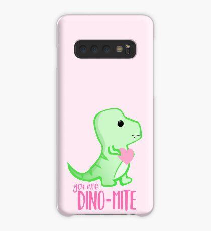 You're DINO-mite T Shirt! Dinosaur Pun - Valentines Pun - Anniversary Pun - Funny - Love - T-rex Case/Skin for Samsung Galaxy