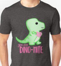 You're DINO-mite T Shirt! Dinosaur Pun - Valentines Pun - Anniversary Pun - Funny - Love - T-rex Unisex T-Shirt