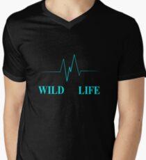 Wild Life Mens V-Neck T-Shirt