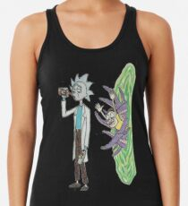 Rick and morty fan art collection  Racerback Tank Top