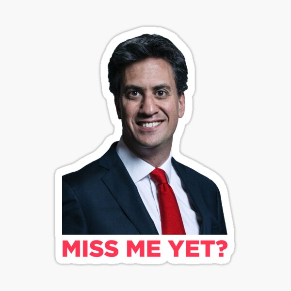 Chaos With Ed Miliband Sticker