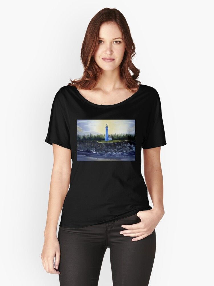 Evening Lighthouse Women's Relaxed Fit T-Shirt Front
