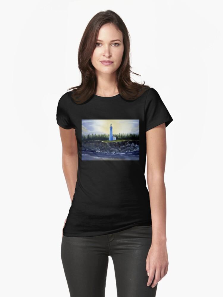 Evening Lighthouse Womens T-Shirt Front