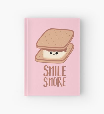 SMORE - SMILE T Shirt - Smores - Design Gifts Hardcover Journal
