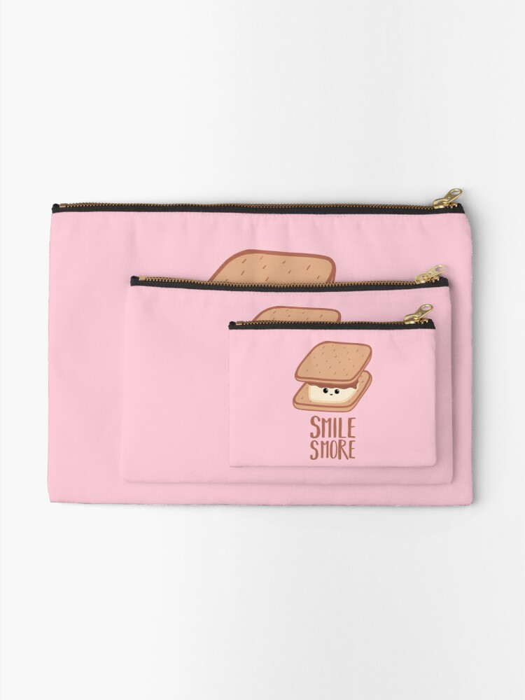 Alternate view of SMORE - SMILE T Shirt - Smores - Design Gifts Zipper Pouch