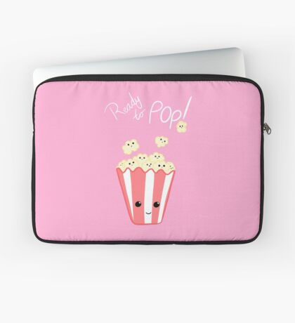 Funny Expecting T Shirt - Ready to Pop - Funny Pregnant - Pregnancy - Baby Shower - Gift - Popcorn Pun - Funny expectant mom mum Laptop Sleeve