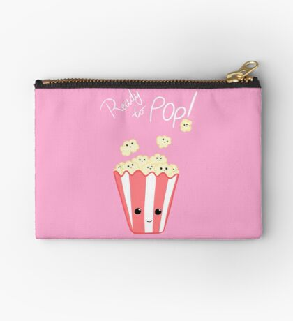 Funny Expecting T Shirt - Ready to Pop - Funny Pregnant - Pregnancy - Baby Shower - Gift - Popcorn Pun - Funny expectant mom mum Zipper Pouch