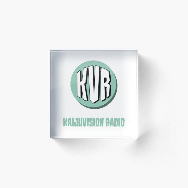 KVR Logo (w/ show title) (White) Acrylic Block