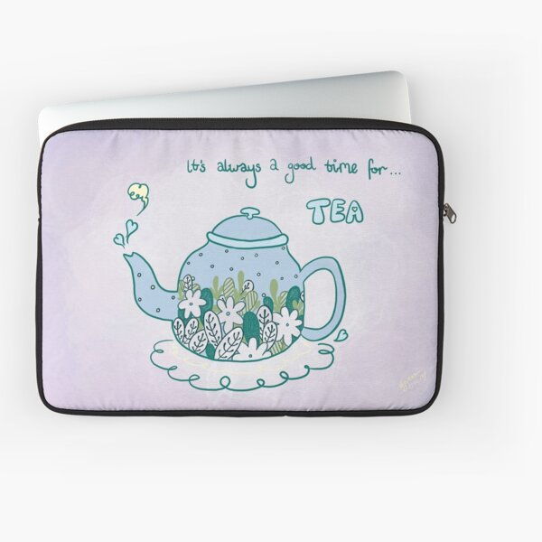 It's Tea Time - Bluebell Laptop Sleeve