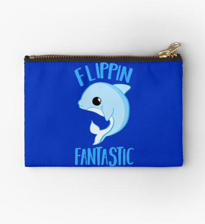 Dolphin - FLIPPING FANTASTIC Zipper Pouch