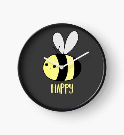 BEE Happy - Bee Pun  Clock