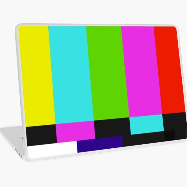 TV Colour Bars Glitch Laptop Skin