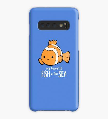 My favourite FISH in the sea - Pun - Anniversary - Birthday - Fish Pun - Clownfish Case/Skin for Samsung Galaxy
