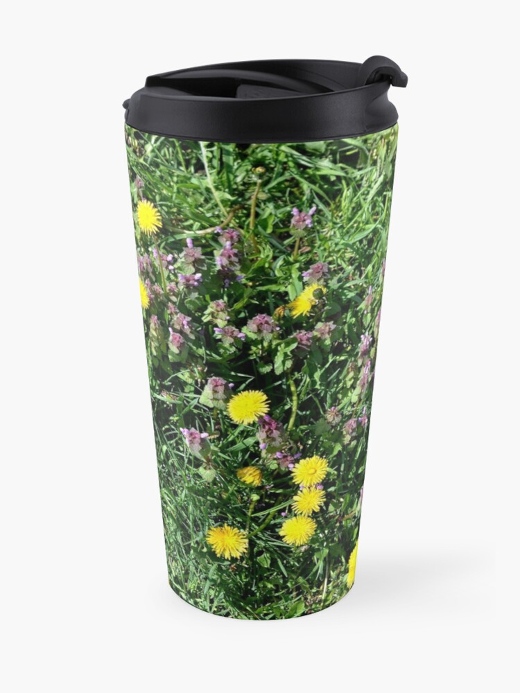 Alternate view of Dandelions Travel Mug
