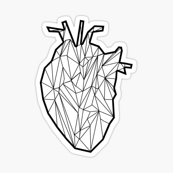 Digital Heart Sticker