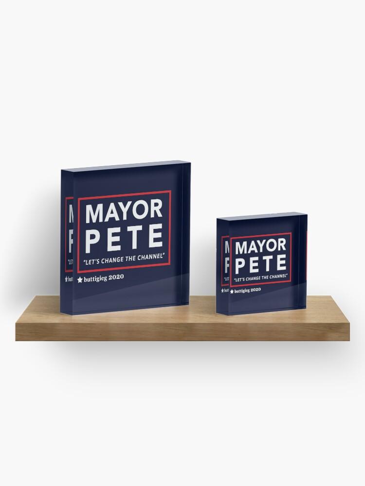 Alternative Ansicht von Bürgermeister Pete Buttigieg 2020 Acrylblock