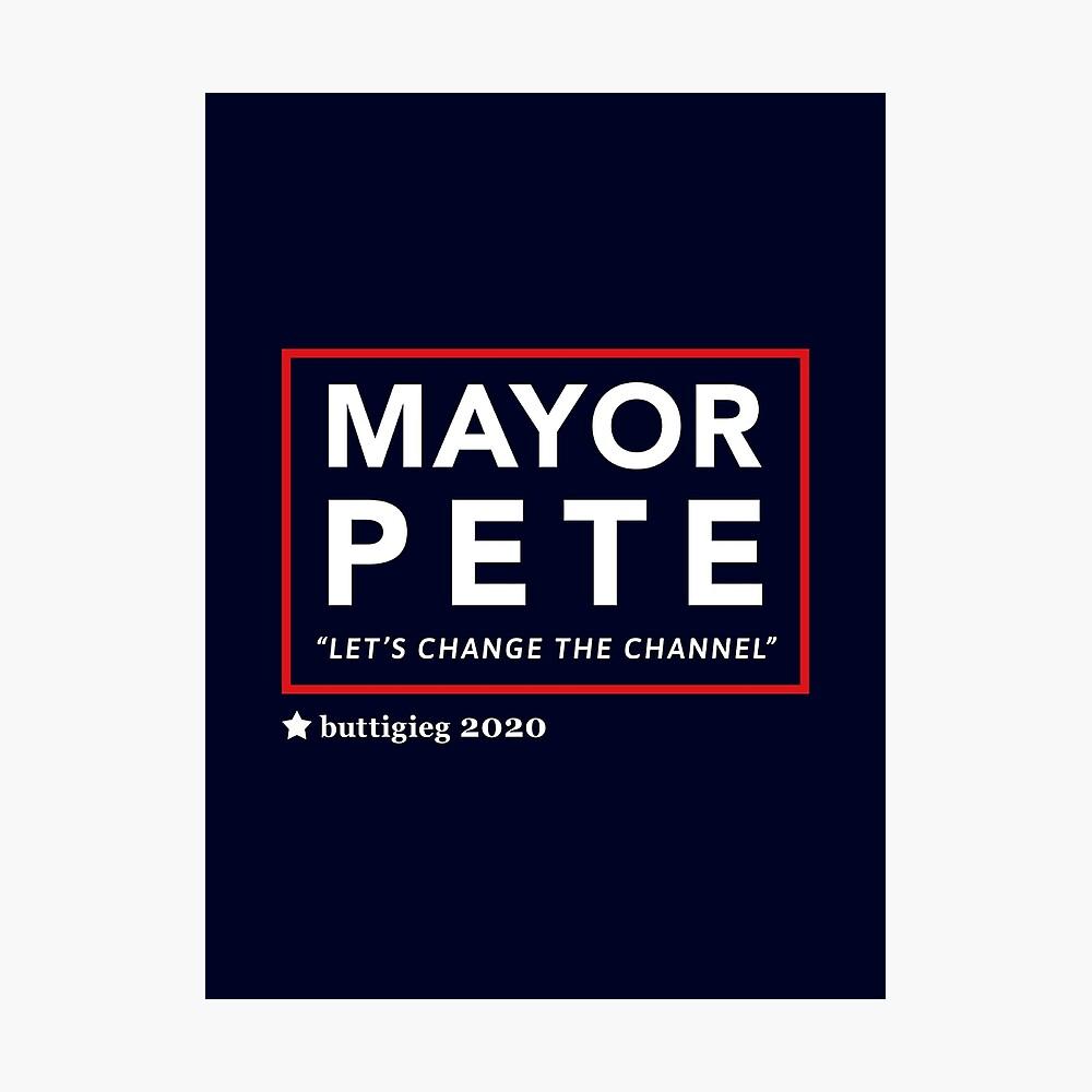 Bürgermeister Pete Buttigieg 2020 Fotodruck
