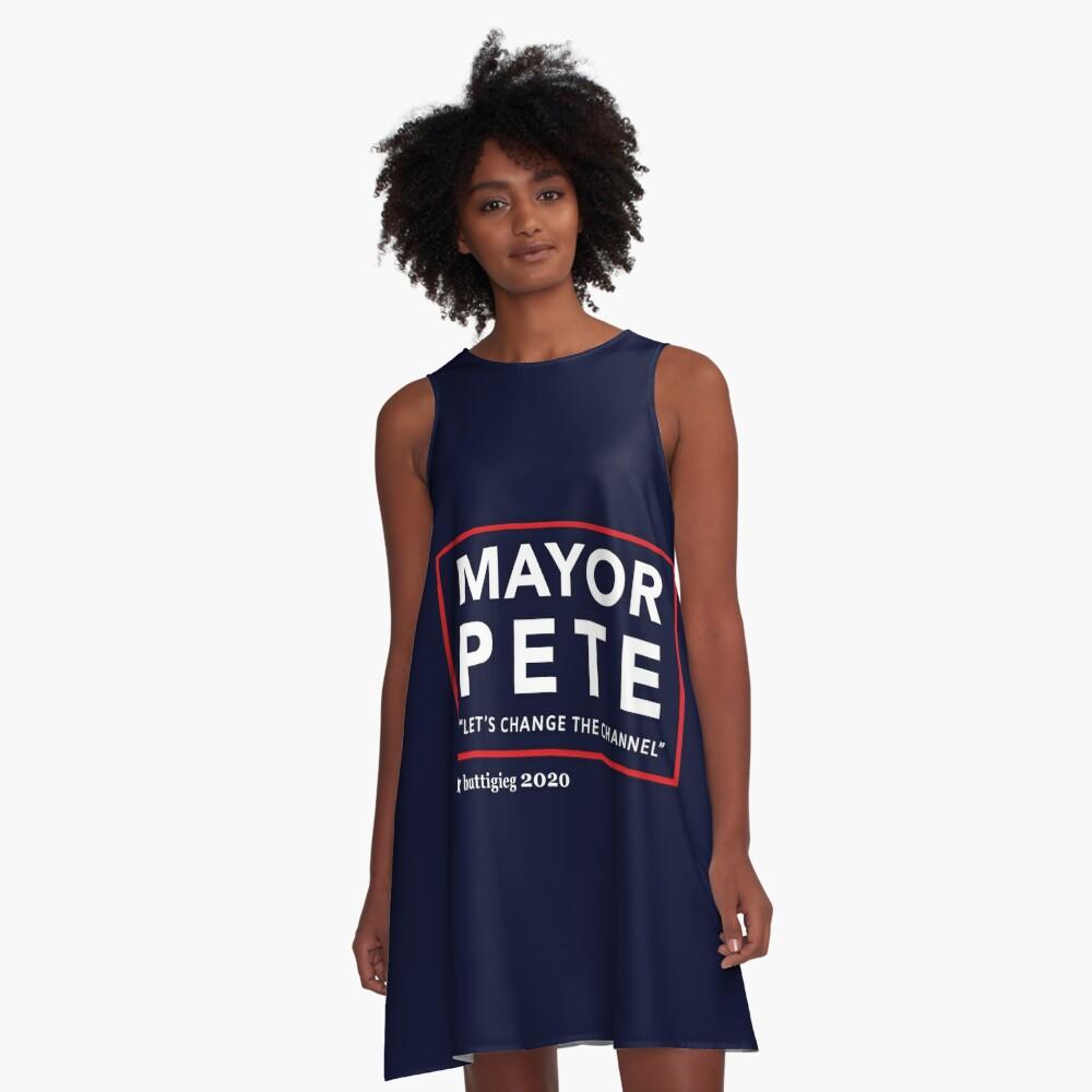 Bürgermeister Pete Buttigieg 2020 A-Linien Kleid