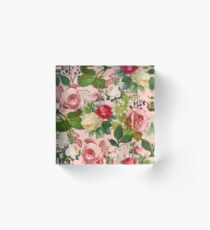Vintage Botanicalia #illustration #pattern #botanical Acrylic Block