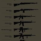 100 Years of American Service Rifles by nothinguntried