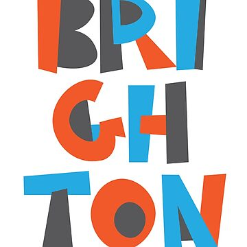 Brighton Hand Drawn Text by designkitsch