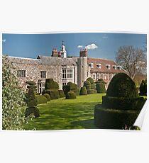 Chess Piece Garden: Hall Place, Kent. UK. Poster