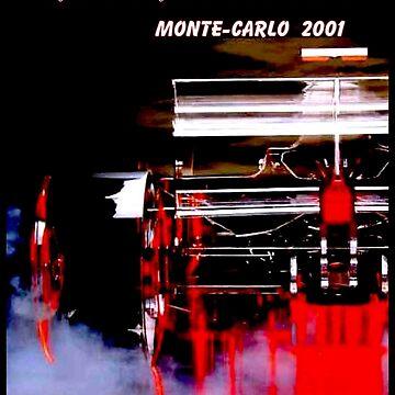 MONACO: 2001er Grand Prix-Rennsport-Druck von posterbobs