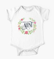 Be Someone's Crazy Aunt Watercolor Floral Wreath Kids Clothes