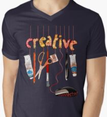 Connected Creative Mens V-Neck T-Shirt