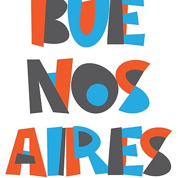 Buenos Aires Hand Drawn Text by designkitsch