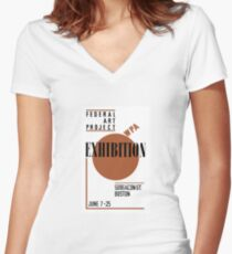 Federal Art Project WPA Exhibition Women's Fitted V-Neck T-Shirt
