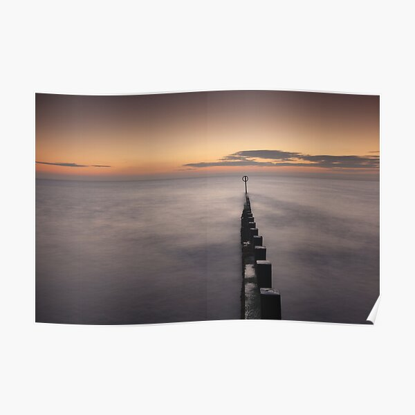sunrise, aberdeen beach Poster
