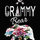 Grammy Bear Bojo Floral Family Adventure & Camping Gift Design by kimmicsts