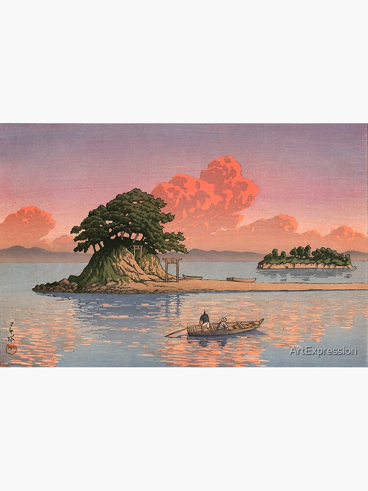 Kujukushima, Shimabara by Kawase Hasui by ArtExpression