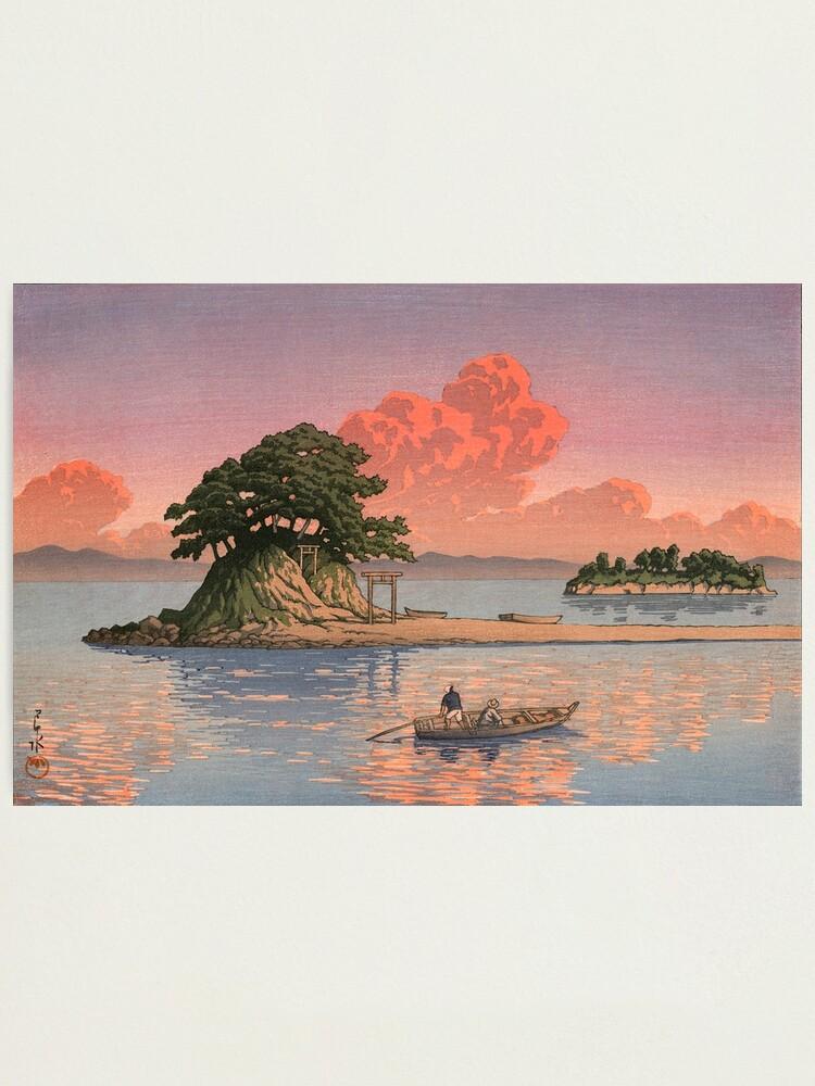 Alternate view of Kujukushima, Shimabara by Kawase Hasui Photographic Print