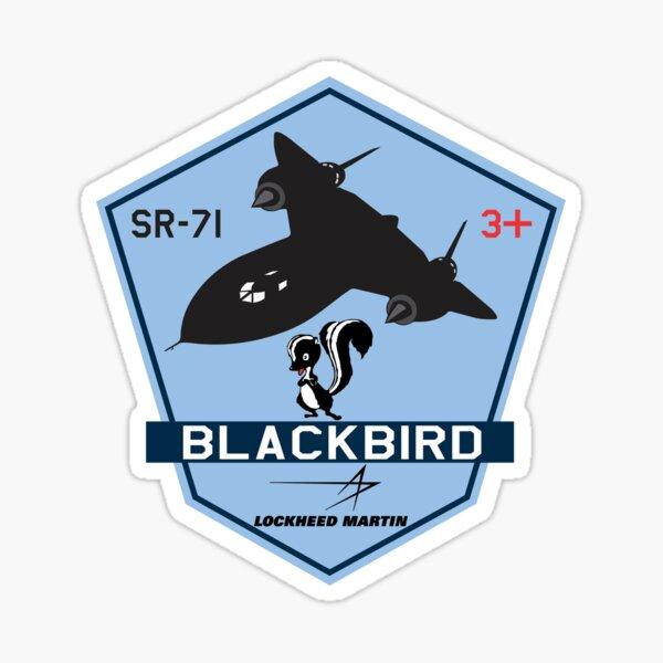 SR-71 Blackbird Skunkworks - Blue Style  Sticker
