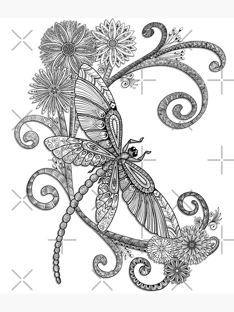 Fly Away - an entangled dragonfly design by Artwyrd