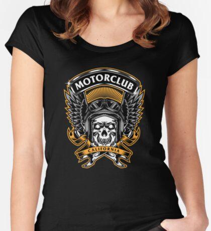 Skull Wings Motorclub California Fitted Scoop T-Shirt