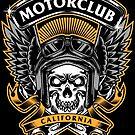Skull Wings Motorclub California by Chocodole