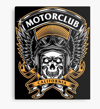 Skull Wings Motorclub California Metal Print