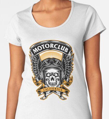Skull Wings Motorclub California Premium Scoop T-Shirt