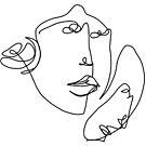 Doppelte Gesichter von Pema Horeau