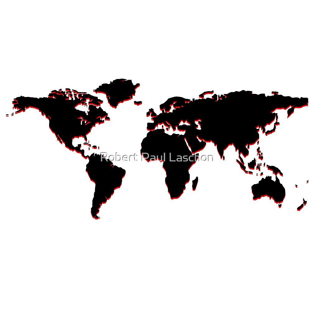 Black world map by Laschon Robert Paul