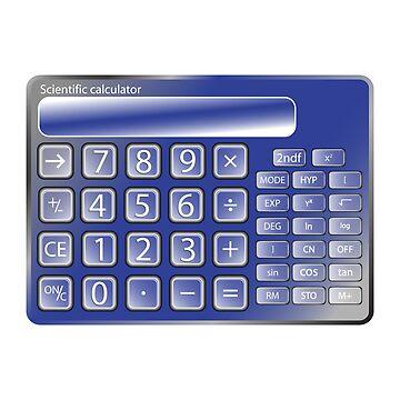 Blue calculator by robertosch