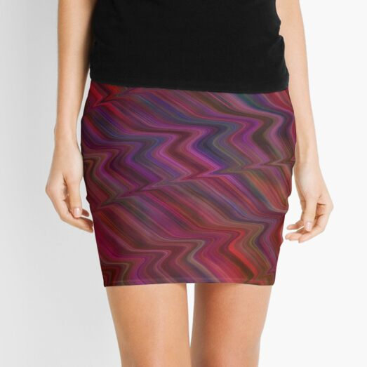 A Zigzag of colour  Mini Skirt