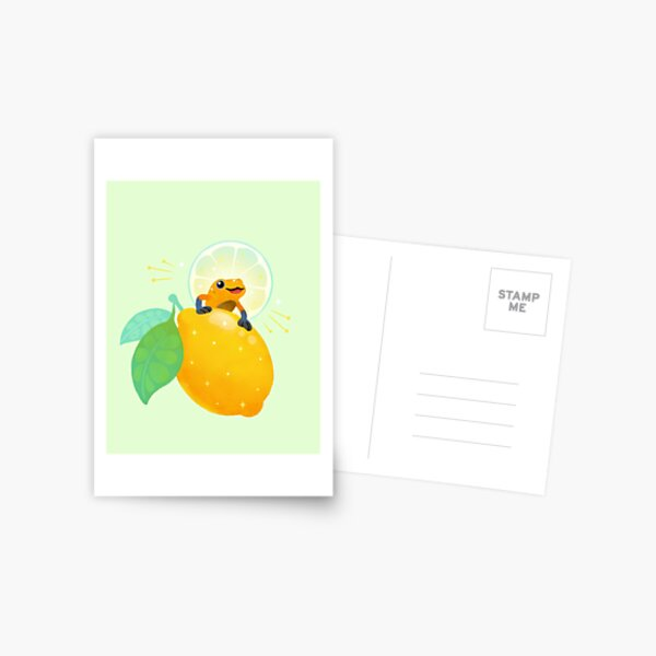 Golden poison lemon sherbet 1 Postcard