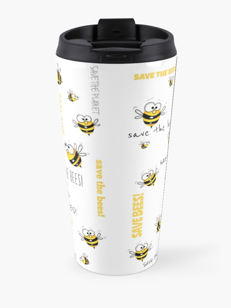Alternate view of Save the Bees! Travel Mug