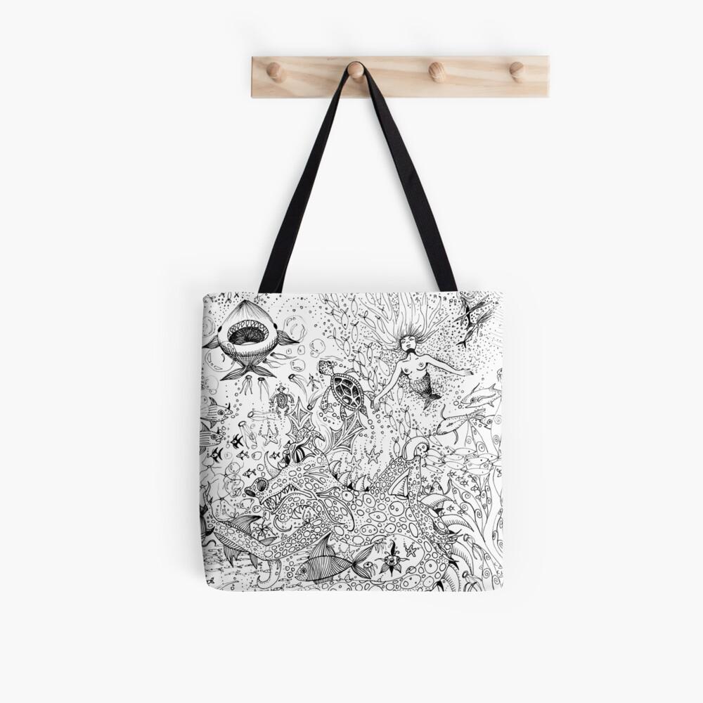 Watery Wonder World Tote Bag
