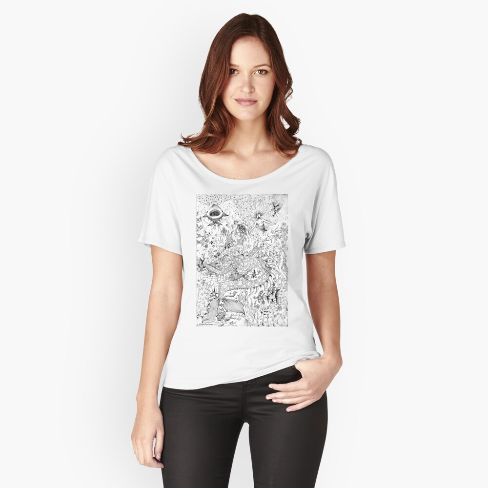Watery Wonder World Relaxed Fit T-Shirt