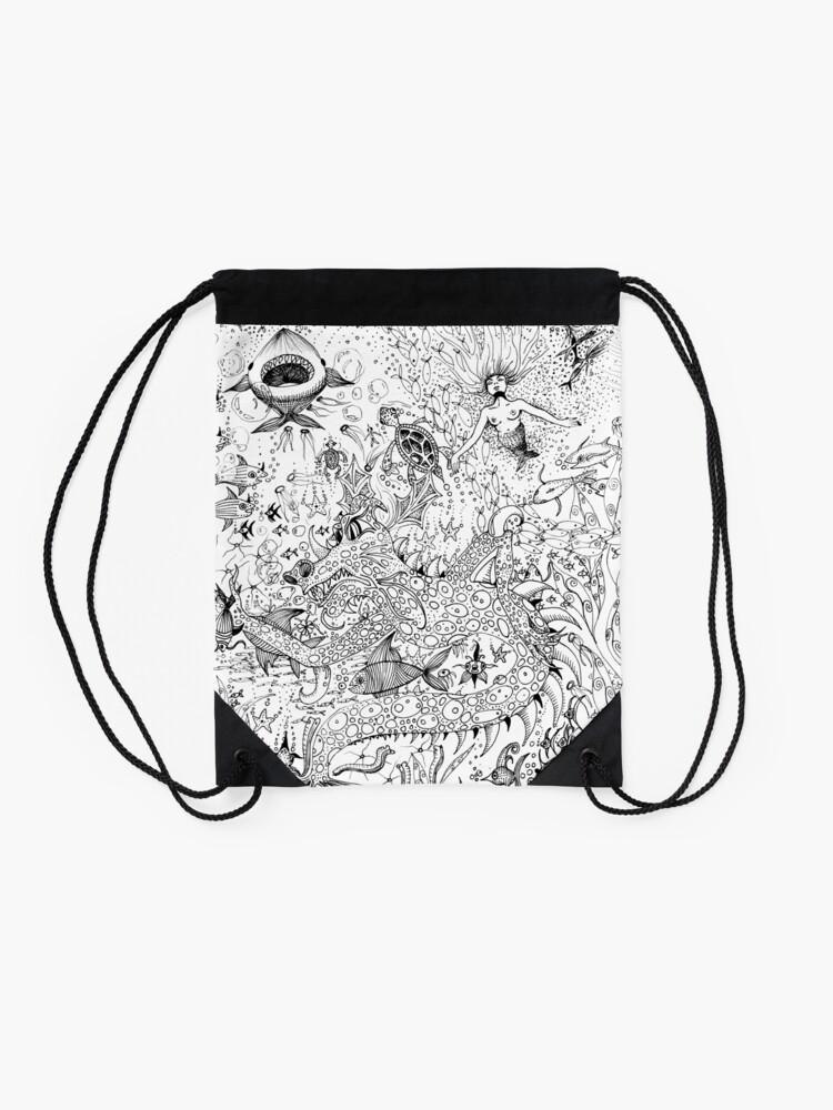 Alternate view of Watery Wonder World Drawstring Bag
